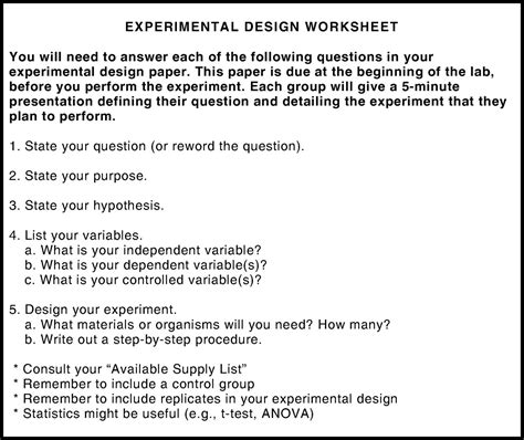 design your own experiment worksheet design your own experiment worksheet free worksheets