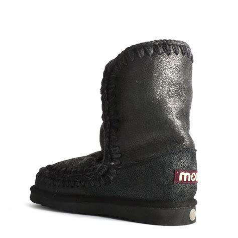 mens eskimo boots buy mou boots eskimo 24cm cracked black shearling boot