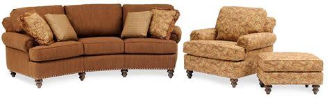 324 Curved Conversational Sofa With Nailhead Trim By Smith Curved Conversation Sofa