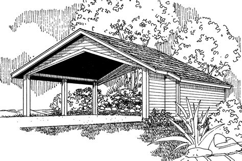 traditional house plans carport wstorage