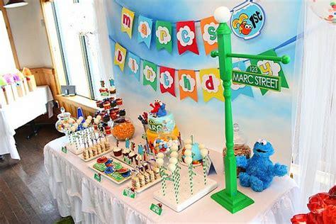 Elmo cookie monster sesame street birthday party via kara s party ideas karaspartyideas com