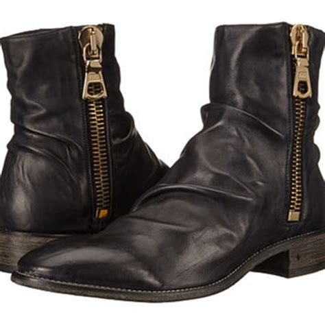 ago black side zip boots by varvatos shop varvatos boots on wanelo