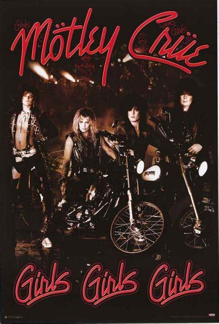 hair nation 80s music vintage hard rock on siriusxm radio motley crue album cover poster 24x36 play hard girls