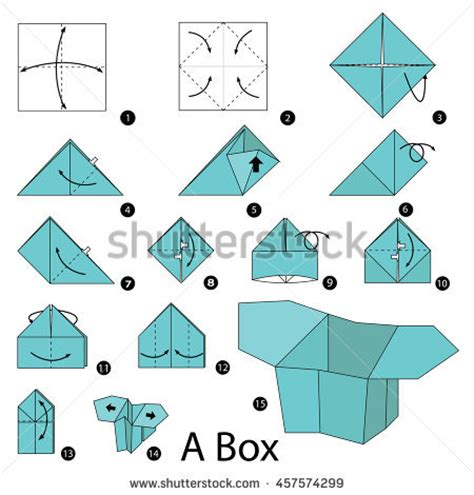 How To Make Paper Box Step By Step - origami insect cicada steps stock