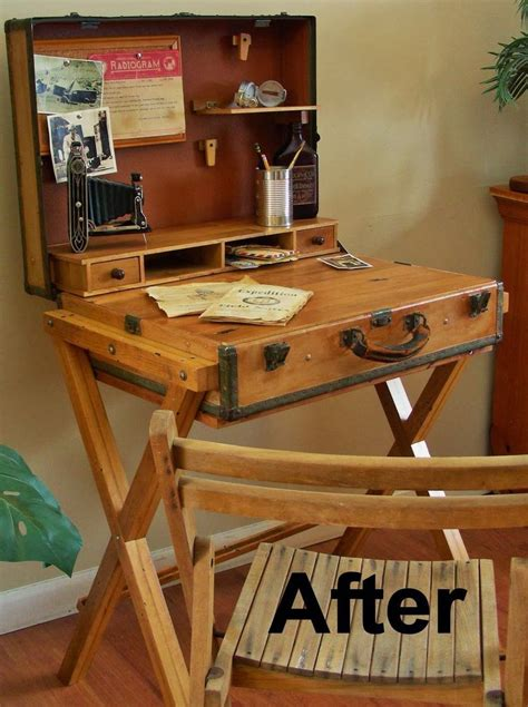 libro vintage furniture destinations vintage upcycled repurposed stuff extreme upcycle the suitcase desk