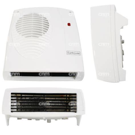 sunhouse downflow bathroom fan heater 2kw