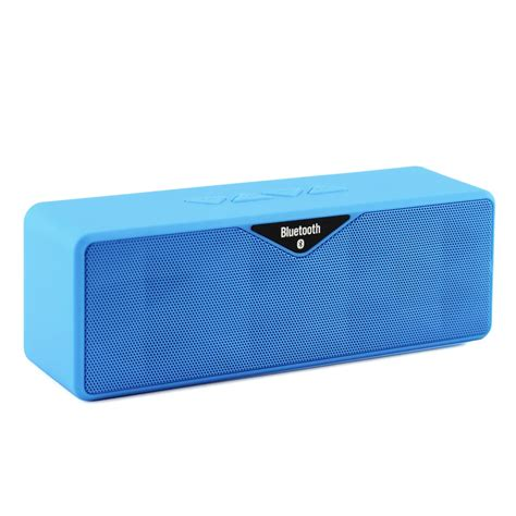 Speaker Bluetooth Sd 100 wireless bluetooth mini speaker dual speaker with micro sd card slot blue