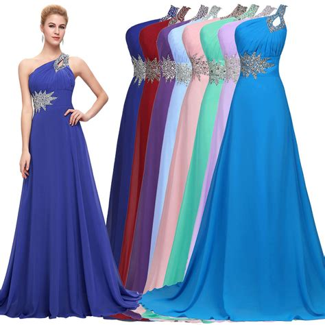 ebay evening dresses cheap long chiffon evening gown bridesmaid dresses prom