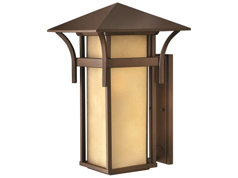 hinkley lighting harbor anchor bronze led outdoor wall