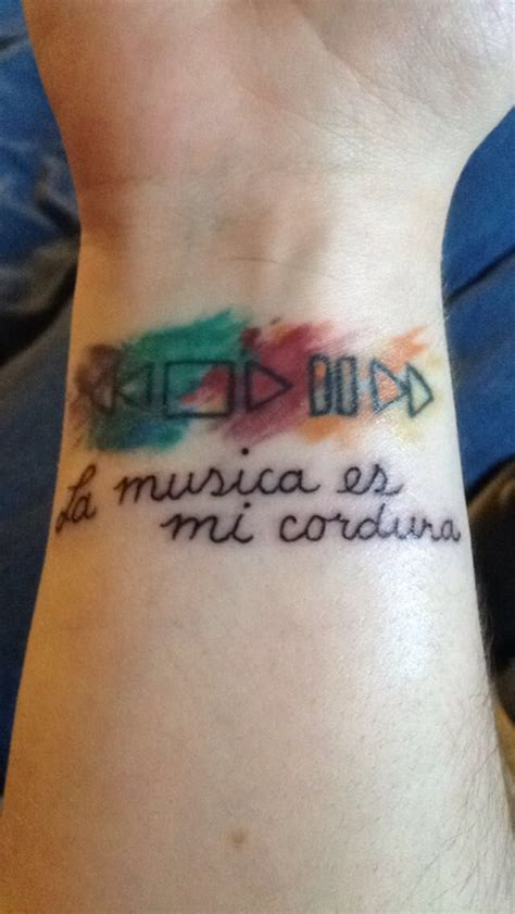 spanish wrist tattoos painted rewind stop play pause forward with quot is my
