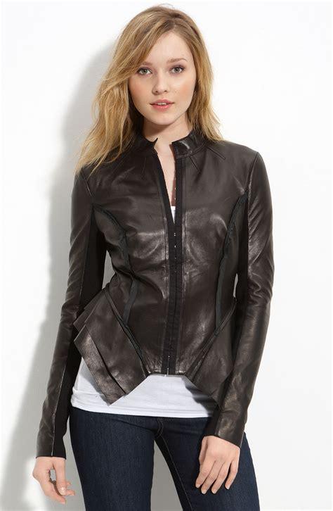 hinge 174 vintage leather jacket in black lyst