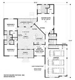 1800 sq ft house 1800 square feet 4 bedrooms 3 batrooms 3 parking space on 1 levels house plan 6191
