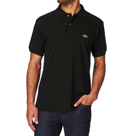 lacoste l 12 12 polo shirt black free uk delivery on all orders