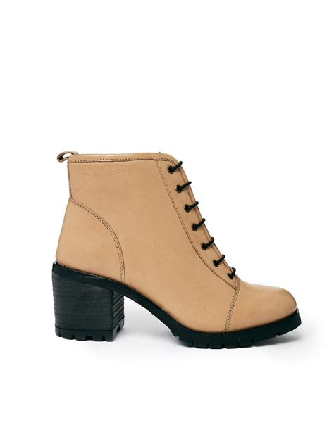 bertie bertie sentry lace up heeled boots at asos