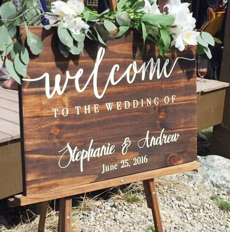 wedding ceremony welcome sign welcome to our wedding sign wedding decoration wedding