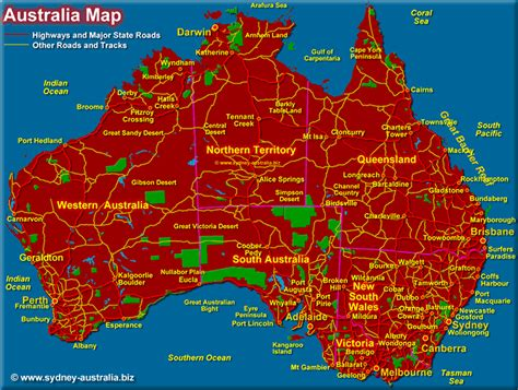 map of ausralia australia map