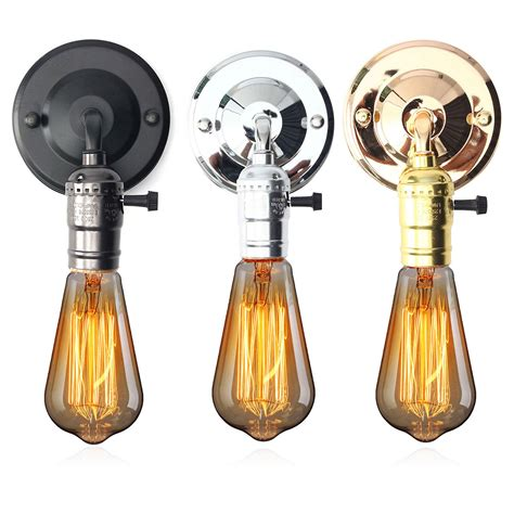 Light Bulb Fixture Types E27 Antique Vintage Switch Type Wall Light Sconce L Bulb Socket Holder Fixture Alex Nld