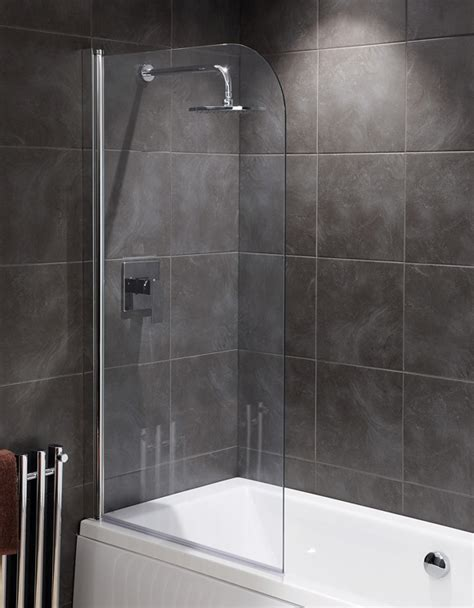 bath and shower cheap bath shower screens silver clear bath shower screen