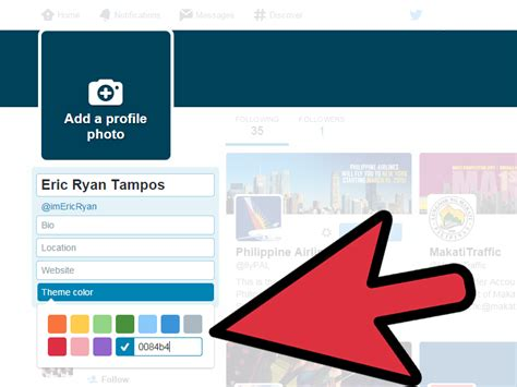 themes color in twitter how to change the theme on twitter 5 steps with pictures