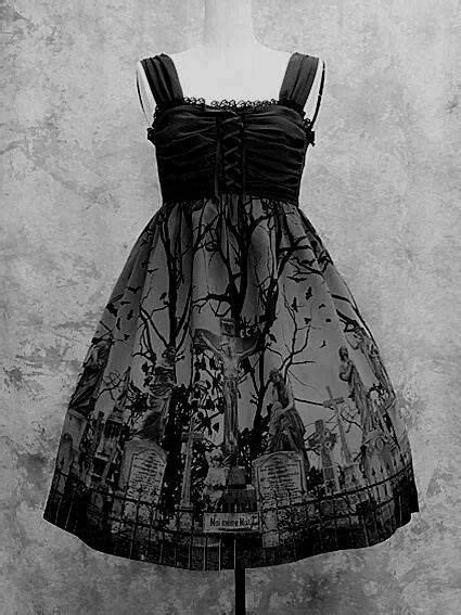 Hotpants 2 3 Jsk 6057 spooky graveyard dress morbid fashion dresses graveyards and