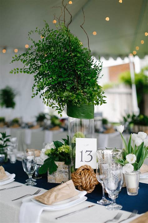 Reception D 233 Cor Photos Greenery Centerpiece With Greenery For Wedding Centerpieces