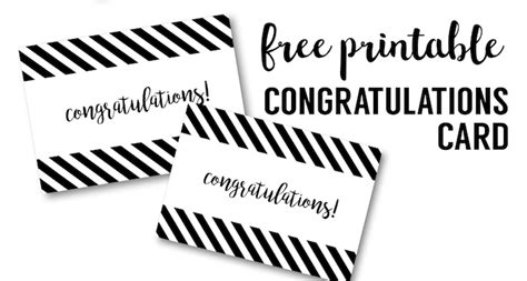 free printable luck card template free printable congratulations card paper trail design