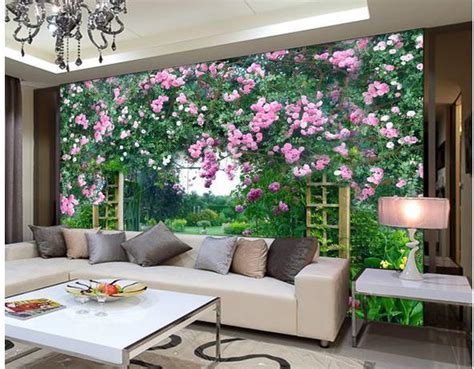 country wall murals popular flower garden mural buy cheap flower garden mural lots from china flower garden mural