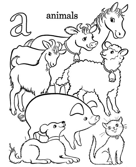 Learning Years Letters Objects Coloring Pages Letter A Colouring In Pages Animals