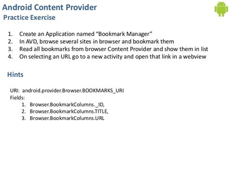 android content provider day 15 content provider using contacts api