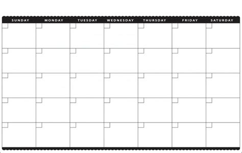 blank calendar template for printable blank calendar 2018