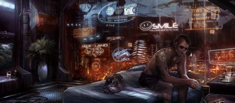 a real world cyberpunk bedroom how accustomed we ve smile by fealasy on deviantart