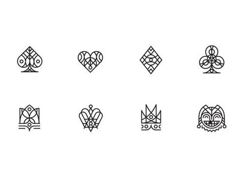 deck of cards tattoo designs spade clover icons infographics