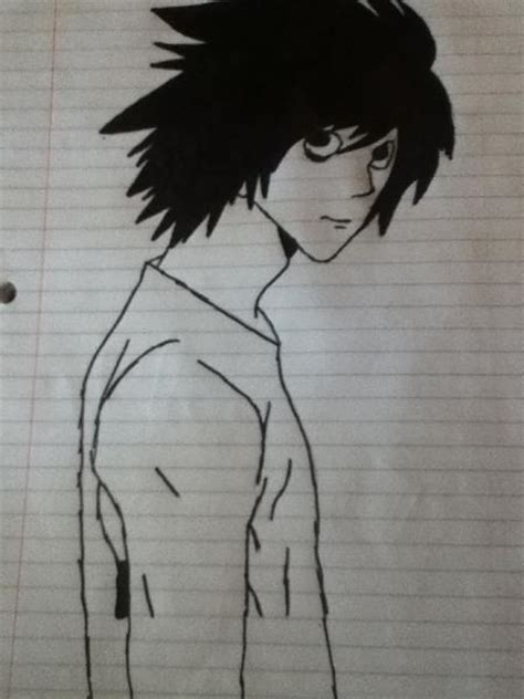 L Drawing by L Drawing By Ryuuzaki Lawliet101 On Deviantart