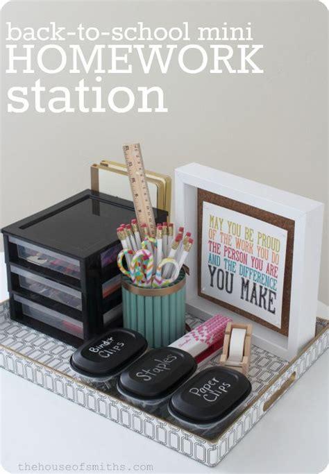 homework station ideas diy back to school homework stations landeelu com
