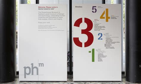 Contemporary Modern Home Plans powerhouse museum wayfinding and graphics segd