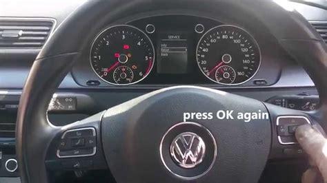 reset service light   volkswagen passat