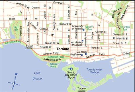 toronto canada map maps of toronto