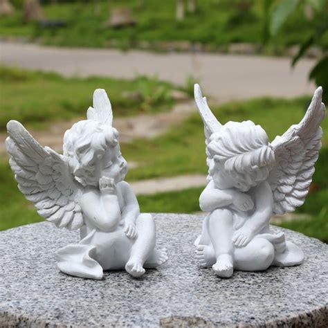 vintage home decor angel cherub figurine figure white