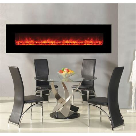 yosemite home decor electric fireplace yosemite home decor hera 95 in wall mount wide glass
