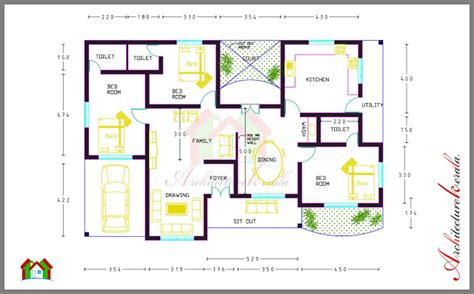 house plans with dimensions 3 bed room house plan with room dimensions architecture