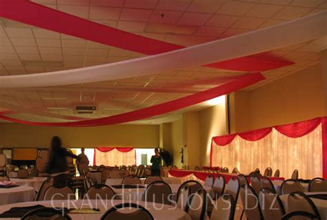 how to drape a ceiling for a party decoration in party party decoration wedding party