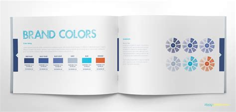 Free Brand Book Template Cool Blue On Behance Brand Book Template Free