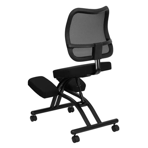 Ez Stand Mobile Stool by Mobile Ergonomic Kneeling Chair With Black Curved Mesh