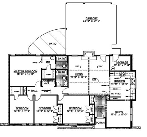 home plans and more canfield one story home plan 020d 0155 house plans and more