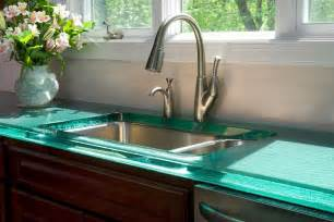 awesome How To Clean The Kitchen Sink #6: modern-countertops-unusual-material-kitchen-glass-2.jpg
