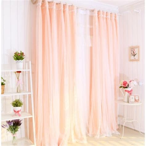 peach drapes peach curtain