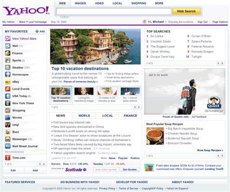 yahoo as homepage images
