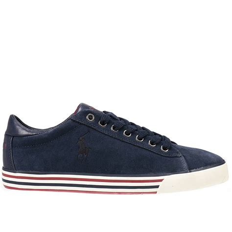 polo ralph sneakers shoes in blue for lyst
