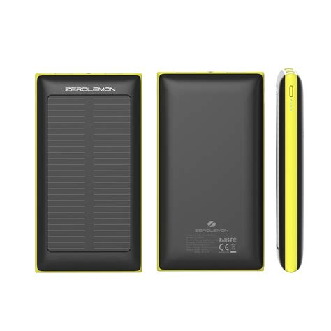 Power Bank Solar Surabaya zerolemon solarjuice solar power bank 10000mah black