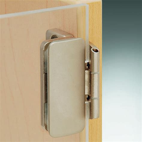 Glass Hinges Cabinet Doors Aximat 174 300 Inset Glass To Wood Door Hinge In Matt Nickel Finish 230 176 Opening Angle By Hafele